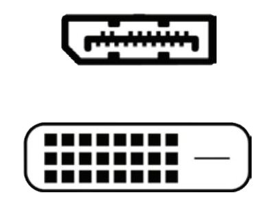 Fujitsu - DisplayPort-Kabel - DisplayPort (M) bis DVI (W) - 40 cm - Schwarz - für Celsius J550, J580; ESPRIMO D538/E94, D7010, D