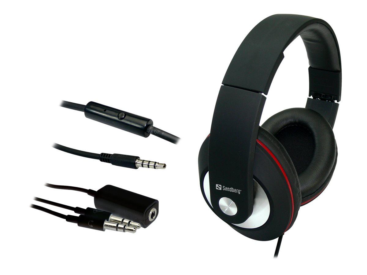 Sandberg Play'n Go - Headset - Full-Size - kabelgebunden - Schwarz