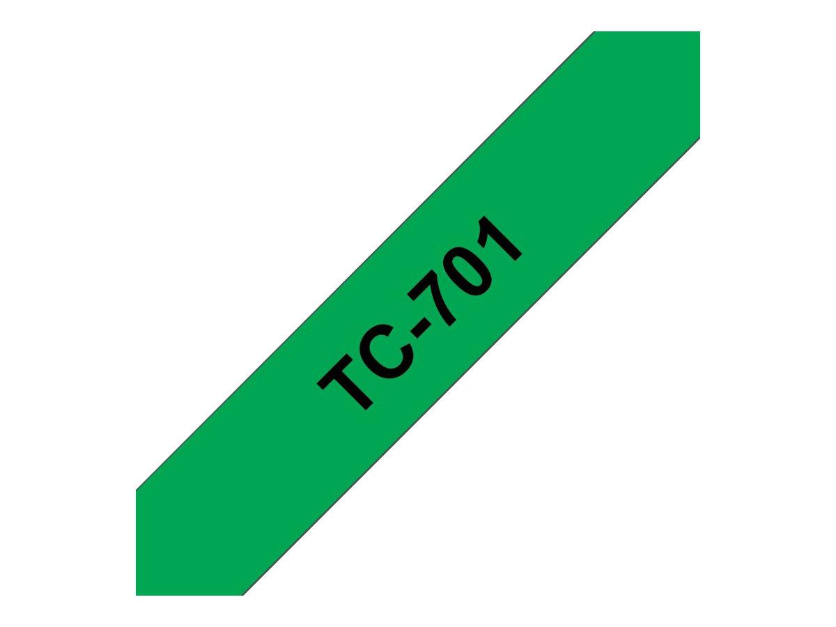 Brother - Schwarz, grün - Rolle (1,2 cm) 1 Rolle(n) Etiketten