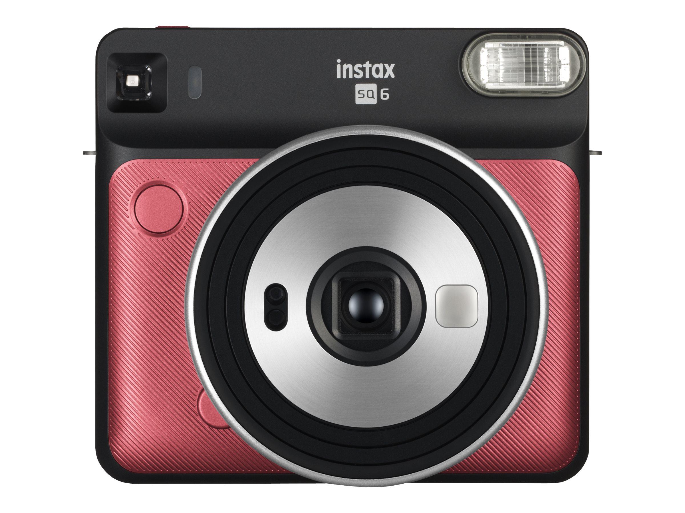 Fujifilm Instax SQUARE SQ6 - Instant Kamera - Objektiv: 65.75 mm Rubinrot