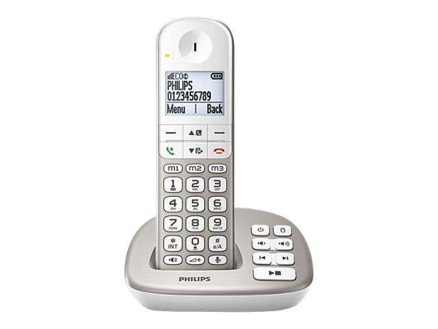 Philips XL4951S - Schnurlostelefon - Anrufbeantworter mit Rufnummernanzeige/Anklopffunktion - DECT\GAP - dreiweg Anruffunktion -