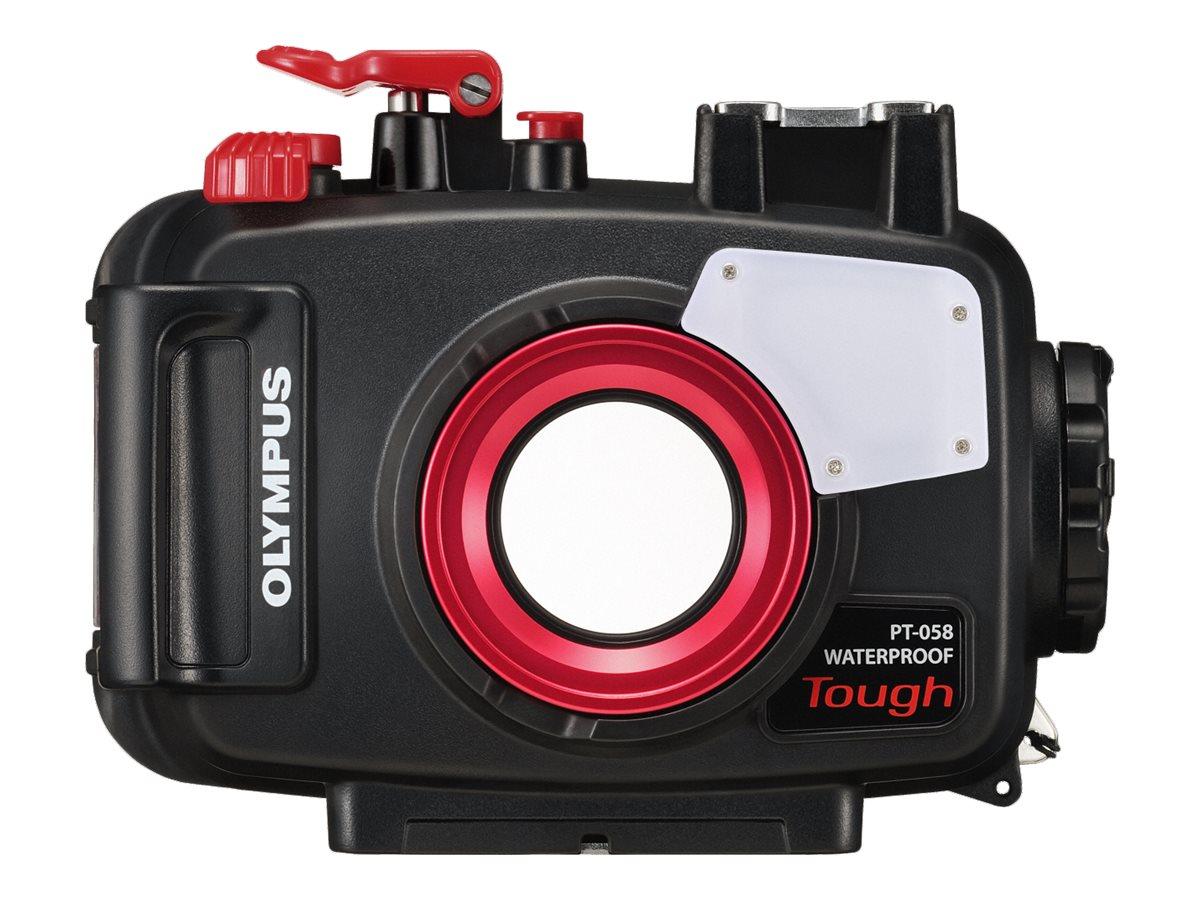 Olympus PT-058 - Unterwassergehäuse Kamera - Polycarbonat - Schwarz, durchsichtig
