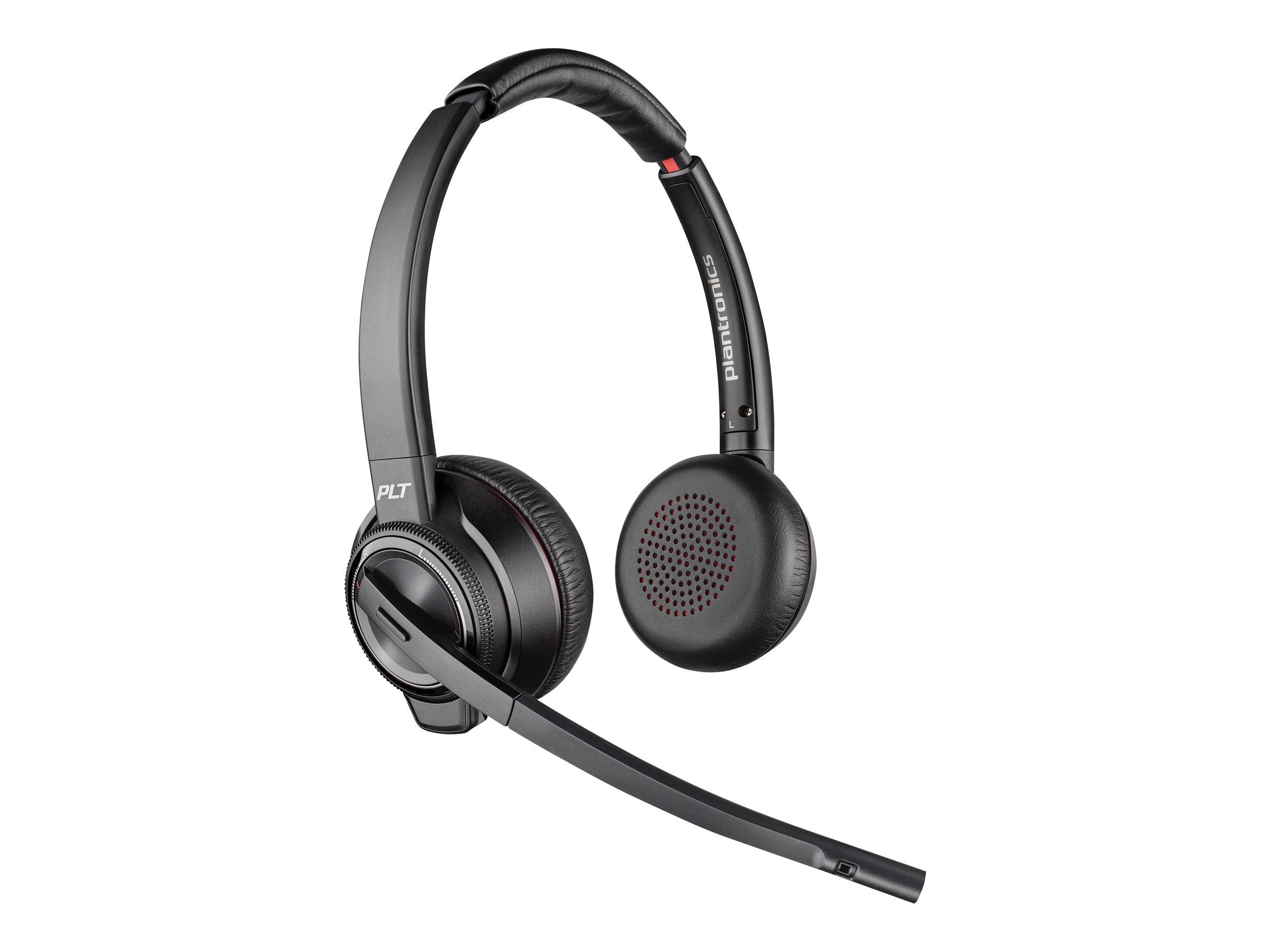 Poly Savi 8200 Series W8220-M - Microsoft - Headset - On-Ear - DECT / Bluetooth - kabellos