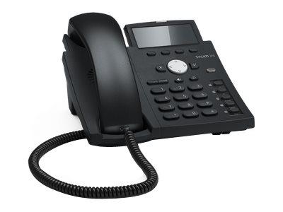 snom D305 - VoIP-Telefon - dreiweg Anruffunktion - SIP - 4 Leitungen - schwarz blau