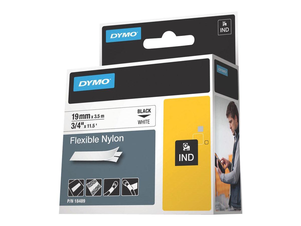 DYMO IND - Nylon - Klebstoff - Schwarz auf Weiss - Rolle (1,9 cm x 4 m) 1 Rolle(n) flexibles Etikettenband - für Rhino 4200, 420