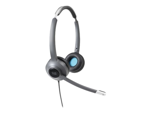 Cisco 522 Wired Dual - Headset - On-Ear - kabelgebunden - 3,5 mm Stecker