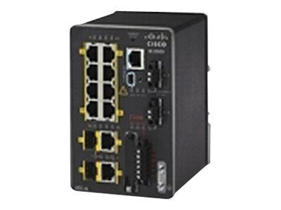 Cisco Industrial Ethernet 2000 Series - Switch - managed - 6 x 10/100 + 2 x Kombi-SFP - an DIN-Schiene montierbar