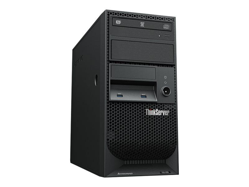 Lenovo ThinkServer TS150 70UB - Server - Tower - 4U - 1-Weg - 1 x Xeon E3-1225V6 / 3.3 GHz