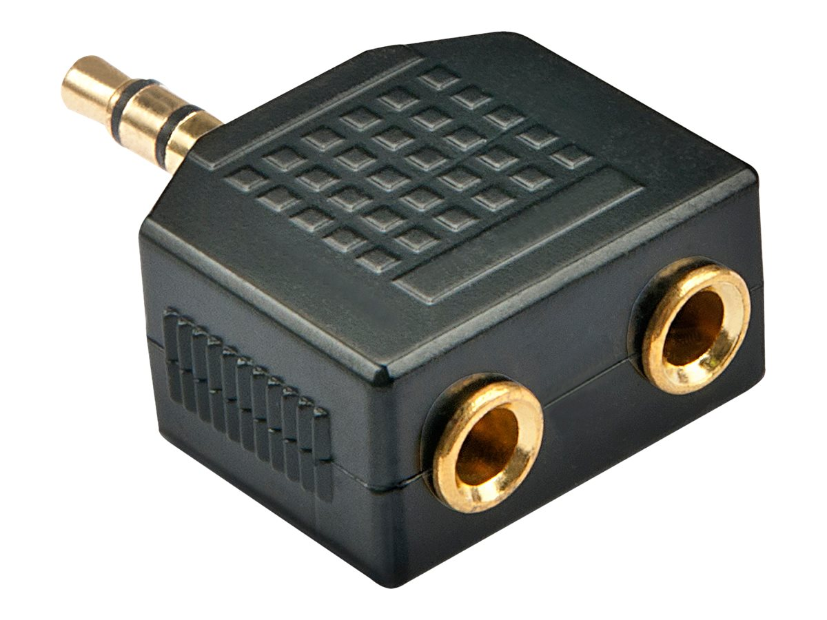 Lindy - Audio-Splitter - Stereo Mini-Klinkenstecker (M) bis Stereo Mini-Klinkenstecker (W)