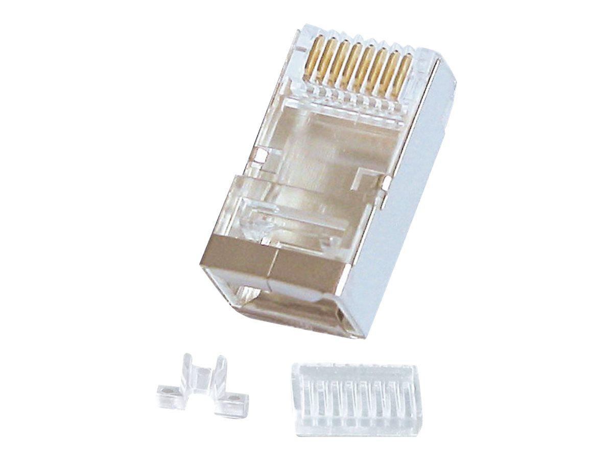 Lindy - Netzwerkanschluss - RJ-45 (M) - STP - CAT 6 - verseilt (Packung mit 10)