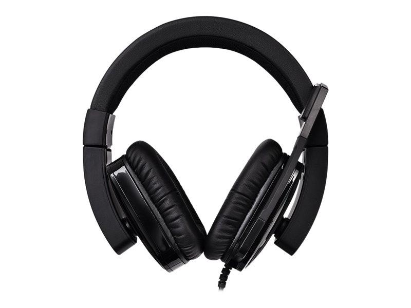 Tt eSPORTS Shock XT - Headset - ohrumschliessend - kabelgebunden - 3,5 mm Stecker - Schwarz