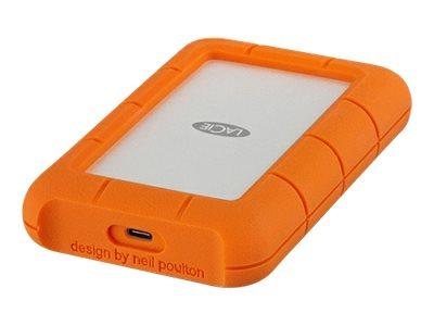 LaCie Rugged USB-C - Festplatte - 4 TB - extern (tragbar) - USB 3.1 Gen 1 (USB-C Steckverbinder) - orange
