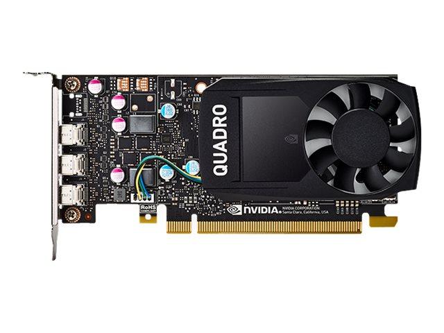 NVIDIA QUADRO P400 - Grafikkarten - Quadro P400 - 2 GB - PCIe x16 Low-Profile - 3 x Mini DisplayPort