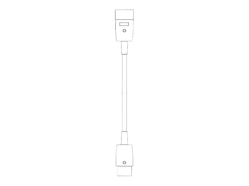 Bachmann - Spannungsversorgungs-Verlängerungskabel - IEC 60320 C20 bis IEC 60320 C19 - 250 V - 16 A - 1 m