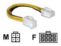 DeLOCK - Adapter für Power Connector - 4 PIN ATX12V (M) bis 8-poliges EPS12V (W) - 15 cm