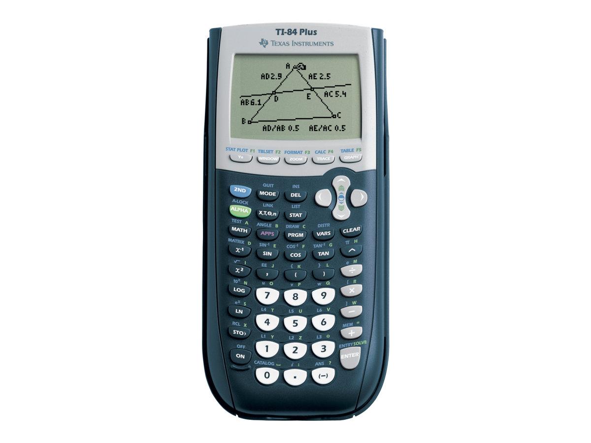 Texas Instruments TI-84 Plus - Grafiktaschenrechner - USB - 10 Stellen + 2 Exponenten - Batterie, Speichersicherungsbatterie