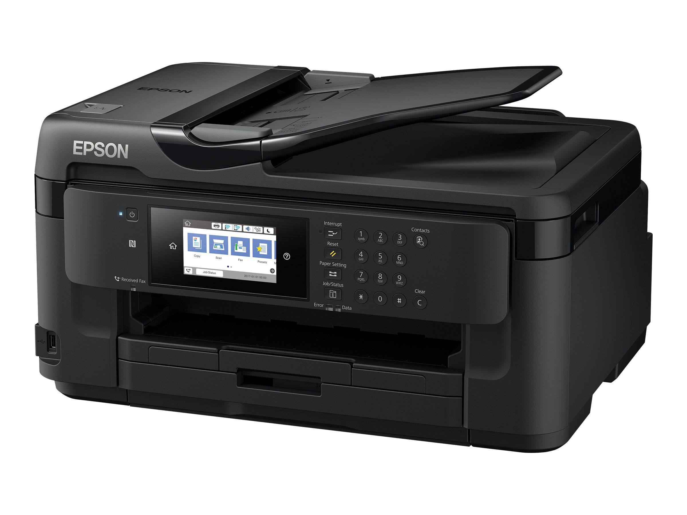 Epson WorkForce WF-7715DWF - Multifunktionsdrucker - Farbe - Tintenstrahl - A3 (Medien) - bis zu 32 Seiten/Min. (Drucken)
