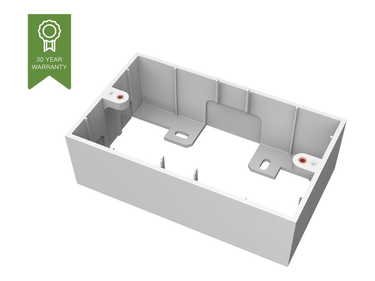 VISION TechConnect 3 2-Gang UK Backbox - Gehäuse - weiss - Abdeckung mit zwei Aussparungen