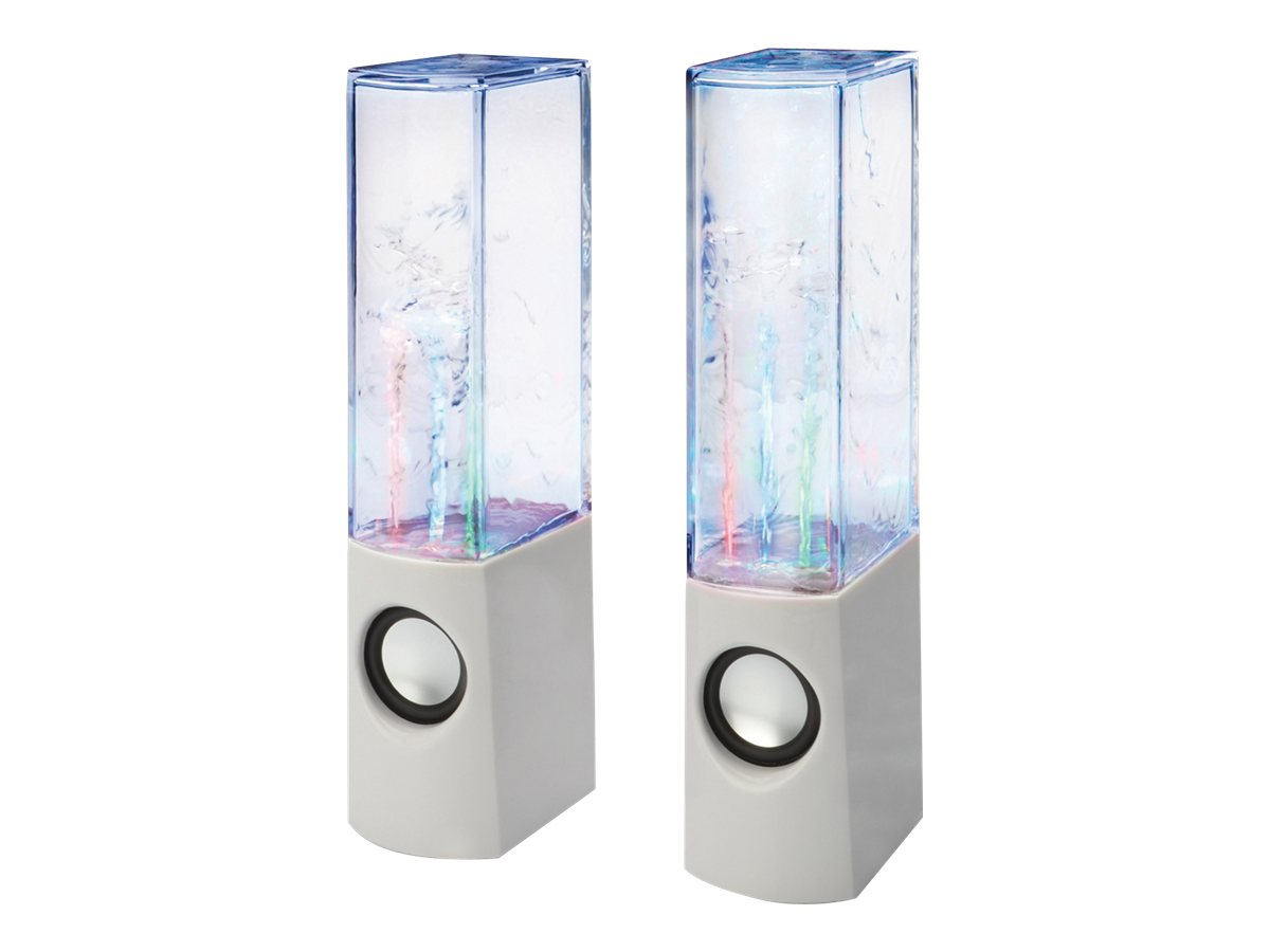 Assmann Water Beats - Lautsprecher - für PC - 6 Watt (Gesamt) - weiss