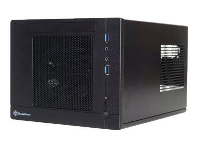 SilverStone SUGO SG05-Lite - USFF - Mini-ITX - ohne Netzteil (SFX12V) - Schwarz - USB/Audio