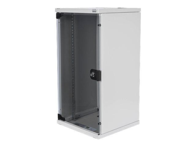 Digitus DN-10-12U - Schrank Netzwerkschrank - geeignet für Wandmontage - Grau, RAL 7035 - 12U - 25.4 cm (10