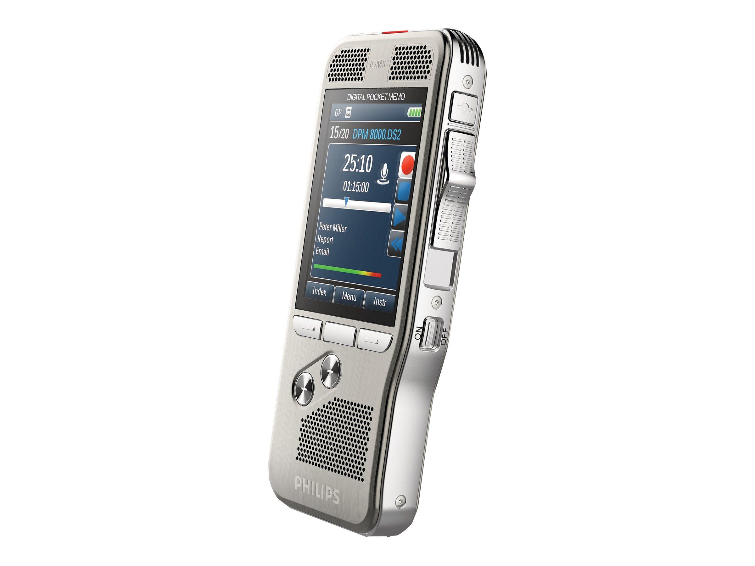 Philips Pocket Memo DPM8000 - Voicerecorder - 200 mW - 4 GB
