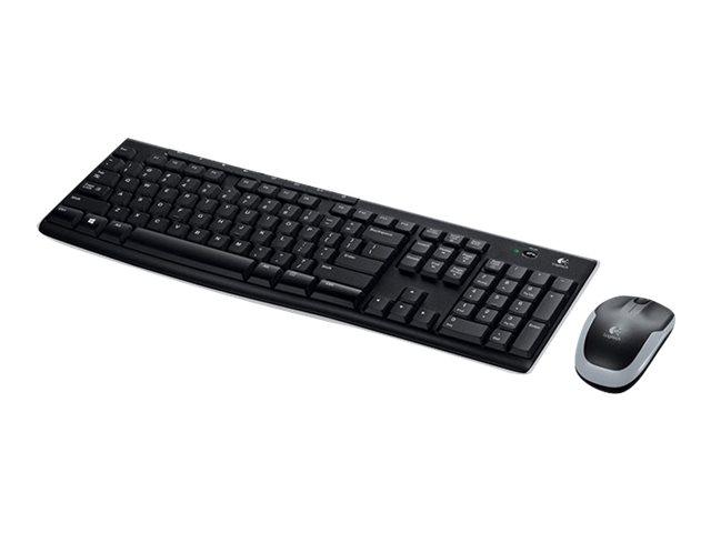 Logitech Wireless Combo MK270 - Tastatur-und-Maus-Set - kabellos - 2.4 GHz - Französisch