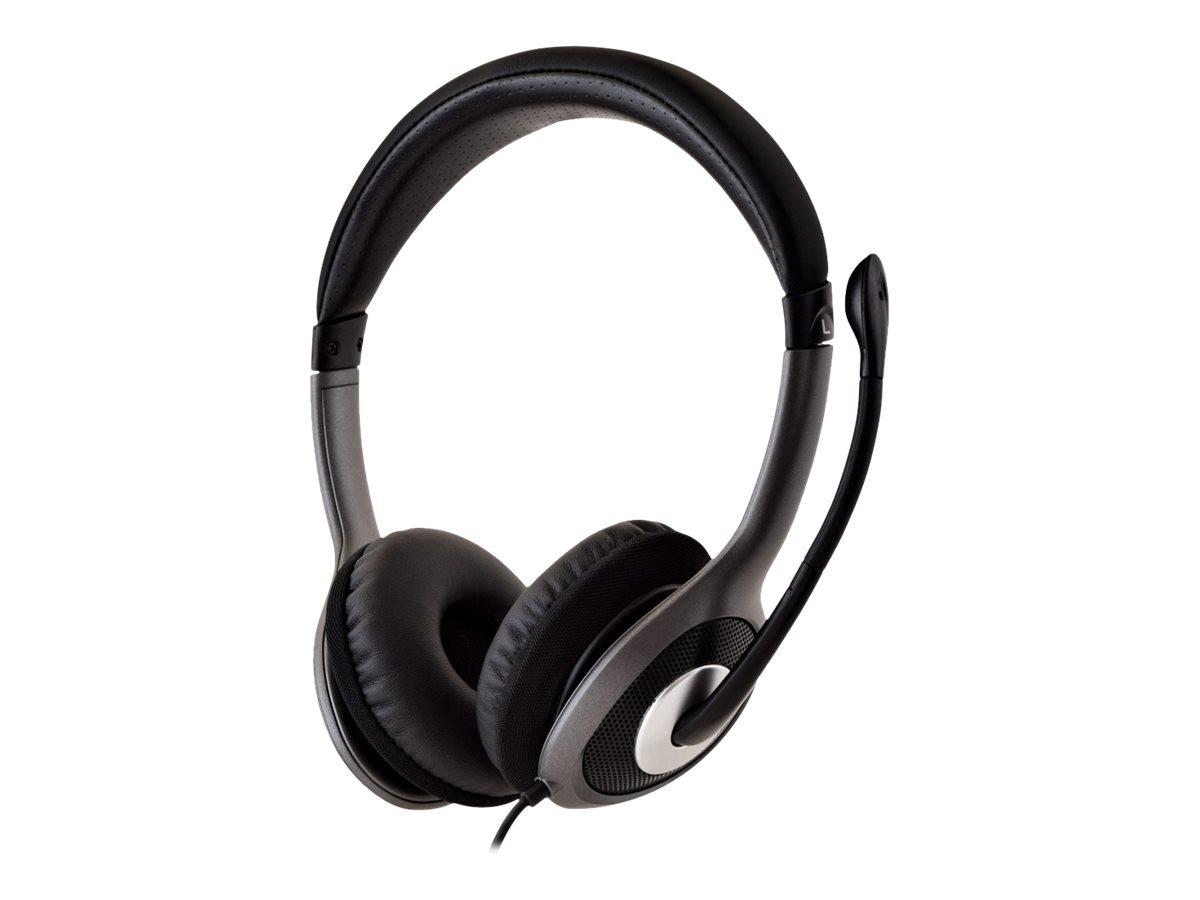 V7 HU521-2EP - Headset - On-Ear - kabelgebunden - USB - Schwarz