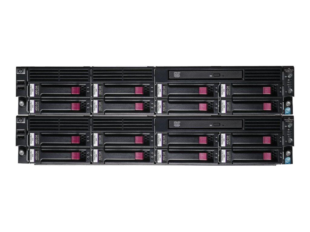 HPE LeftHand P4300 G2 SAS Starter SAN Solution - Festplatten-Array - 7.2 TB - 16 Schächte (SAS-2) - HDD 450 GB x 16 - DVD-ROM