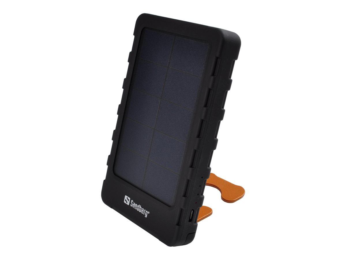 Sandberg PowerPal 5000 - Powerbank - 5000 mAh - 1000 mA (USB) - auf Kabel: Micro-USB