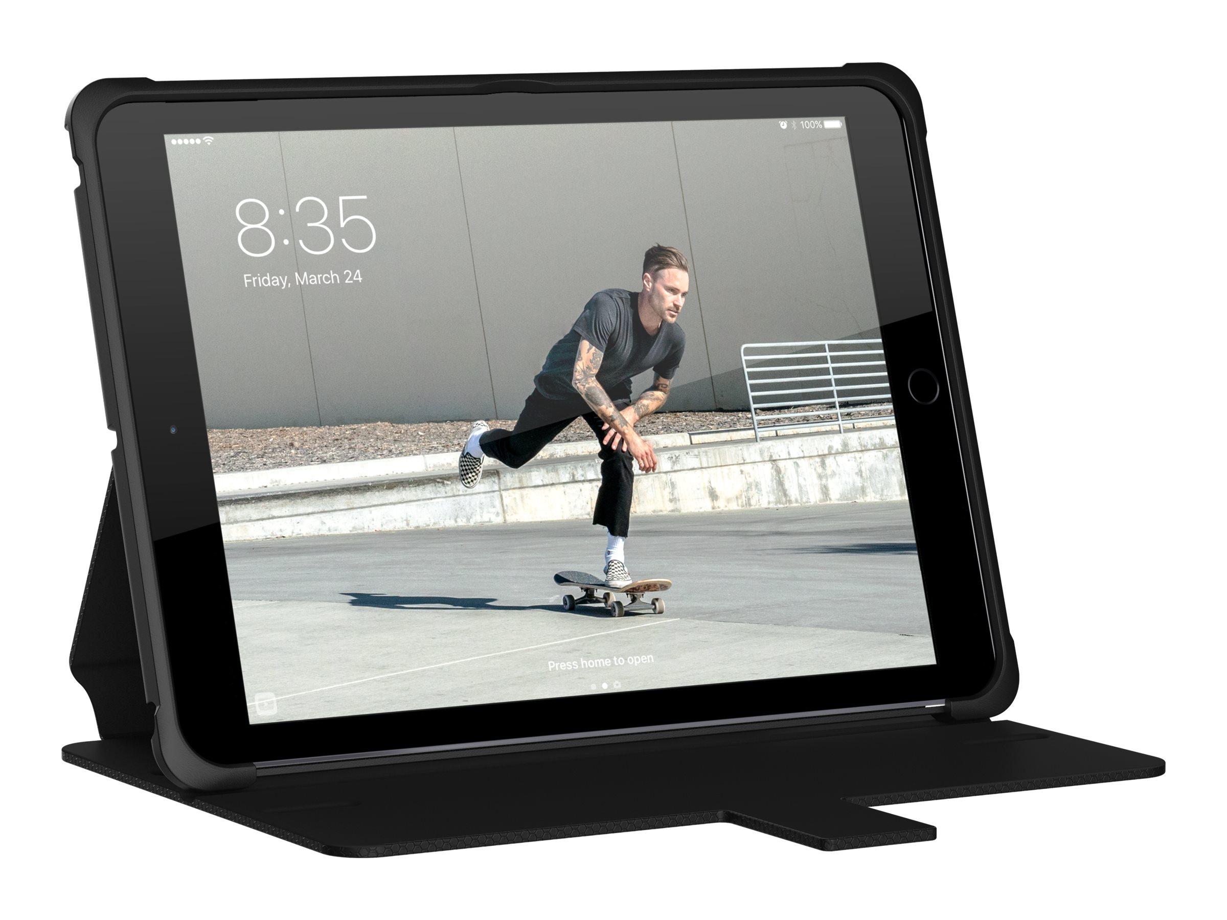 UAG Metropolis - Flip-Hülle für Tablet - widerstandsfähig - Schwarz - für Apple 9.7-inch iPad (5. Generation)