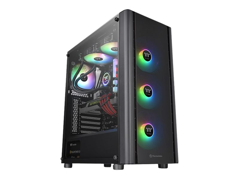 Thermaltake V Series V250 TG ARGB - Tower - ATX - ohne Netzteil (PS/2) - Schwarz - USB/Audio