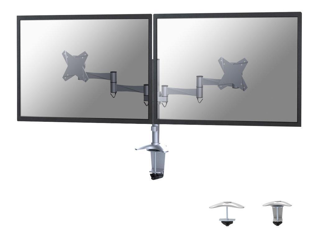 NewStar FPMA-D1330D - Befestigungskit für 2 LCD-Displays (full-motion) - Silber - Bildschirmgrösse: 25.4-69 cm (10