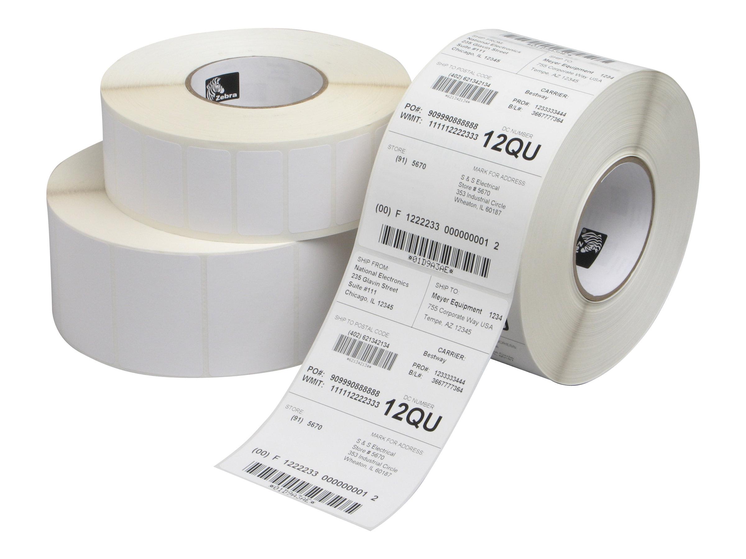 Zebra Z-Perform 1000T - Papier - matt - permanenter Klebstoff - unbeschichtet - weiss