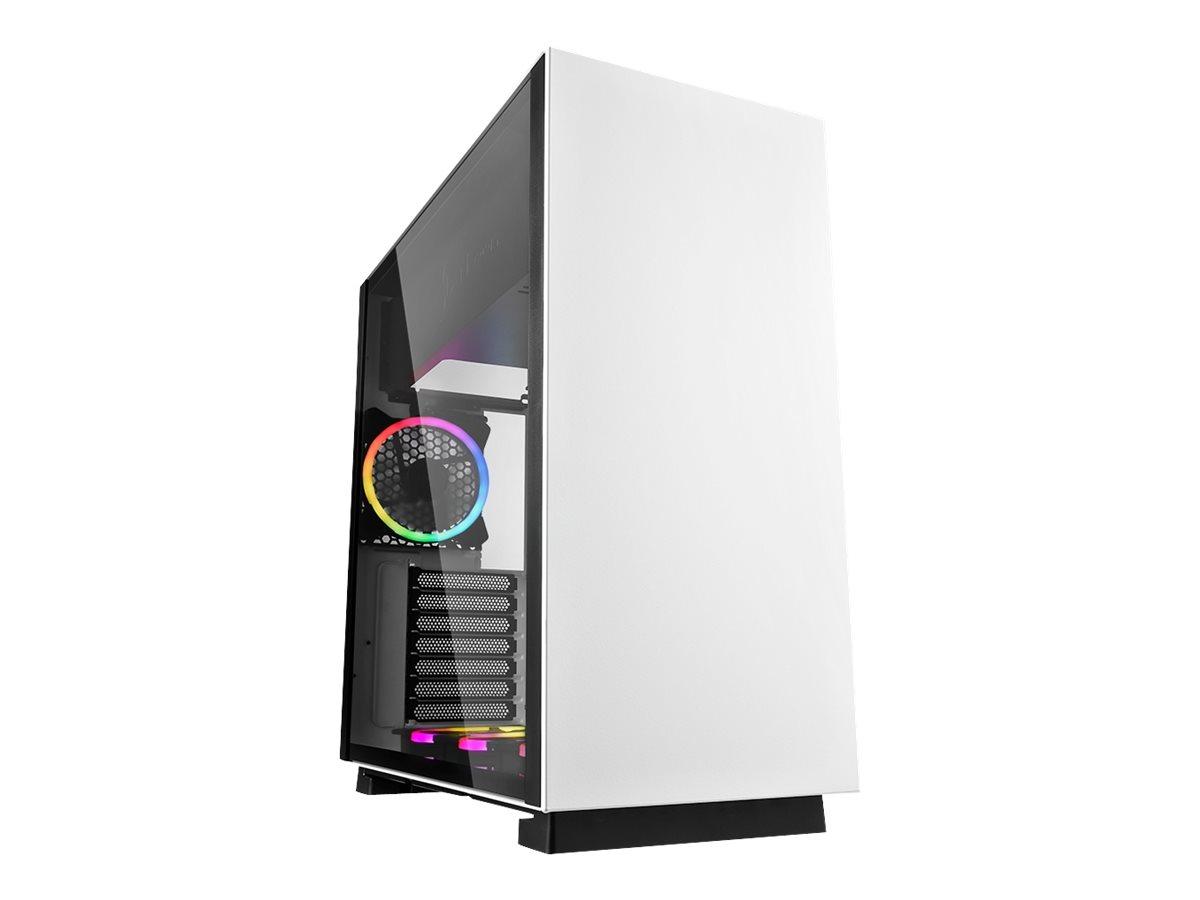 Sharkoon PURE STEEL - Tower - Erweitertes ATX - ohne Netzteil - weiss - USB/Audio