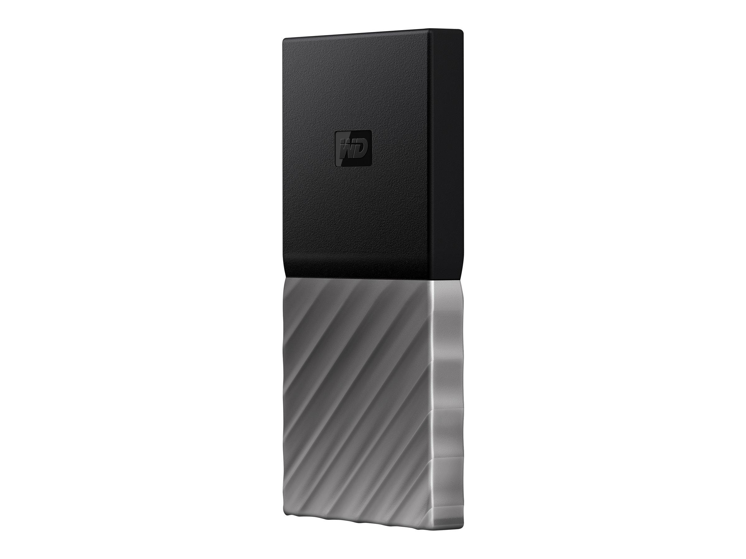 WD My Passport SSD WDBK3E5120PSL - Solid-State-Disk - verschlüsselt - 512 GB - extern (tragbar) - USB 3.1 Gen 2 (USB-C Steckverb