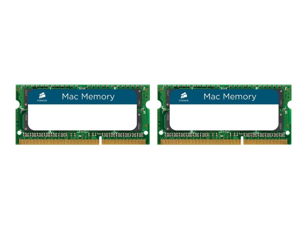 CORSAIR Mac Memory - DDR3 - 8 GB: 2 x 4 GB - SO DIMM 204-PIN - 1333 MHz / PC3-10666 - CL9