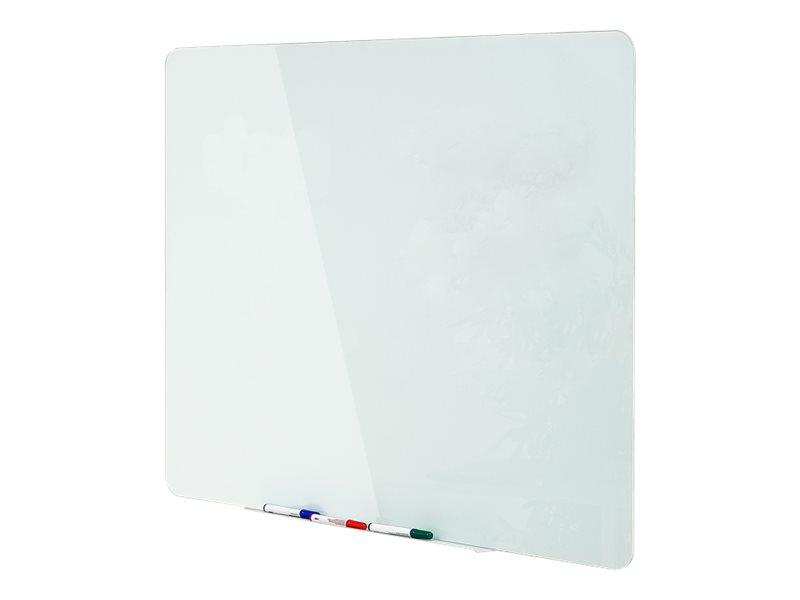 Bi-Office - Whiteboard - geeignet für Wandmontage - 900 x 600 mm - Temperglas - magnetisch