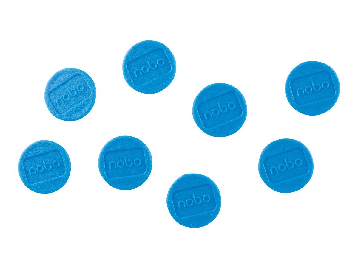 Nobo - Magnet - Durchmesser: 2 cm - Blau (Packung mit 8) - für P/N: 1900930, 1901043, 1902454, 1902455, Q18090MB, QB05442CD, QBP