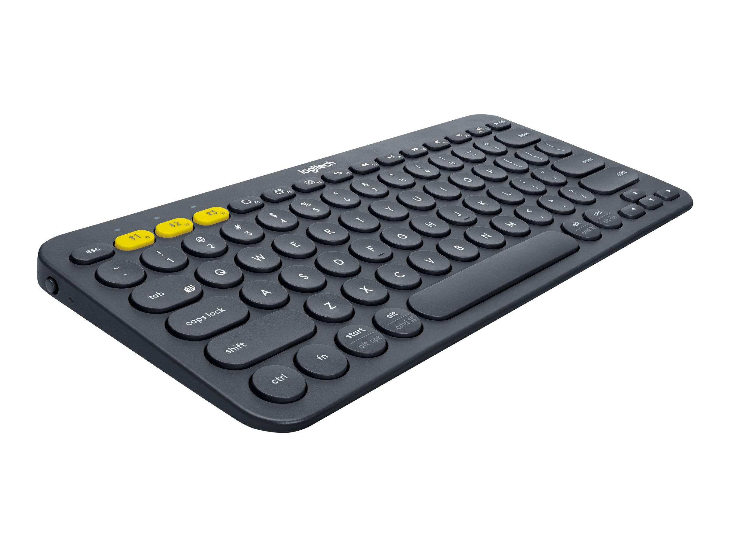 Logitech Multi-Device K380 - Tastatur - Bluetooth - Deutsch - Schwarz