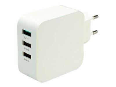 Roline - Netzteil - 36 Watt - 3 A - QC 3.0 - 3 Ausgabeanschlussstellen (USB)