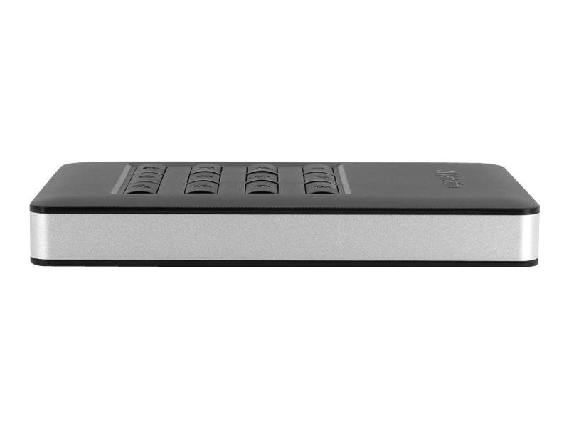 Verbatim Store 'n' Go Portable - Solid-State-Disk - verschlüsselt - 256 GB - extern (tragbar) - USB 3.1 Gen 1 (USB-C Steckverbin