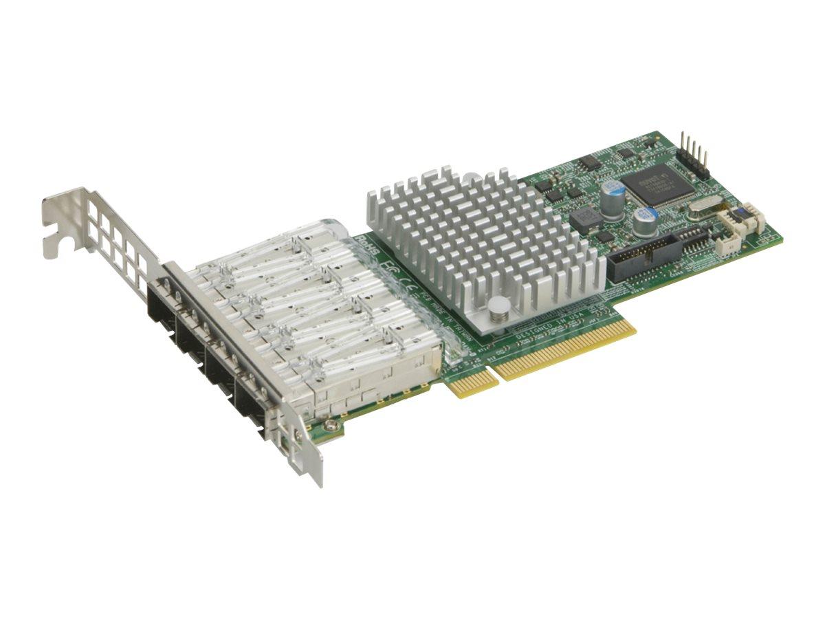 Supermicro Add-on Card AOC-STG-I4S - Netzwerkadapter - PCIe 3.0 x8 Low-Profile - 10 Gigabit SFP+ x 4