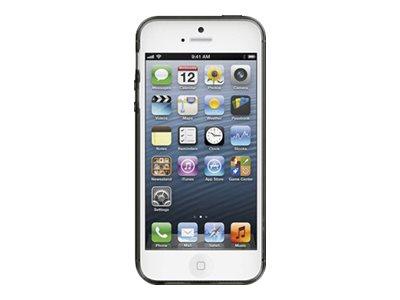 Belkin Grip Sheer - Tasche für Mobiltelefon - Thermoplastisches Polyurethan (TPU) - Blacktop - für Apple iPhone 5
