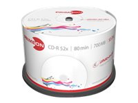 Primeon photo-on-disc ultragloss - 50 x CD-R - 700 MB (80 Min) 52x (CD) - mit Tintenstrahldrucker bedruckbare Oberfläche - Spind