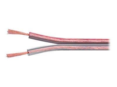 exertis Connect - Lautsprecherkabel - 1.5 mm² - 50 m - durchsichtig rot