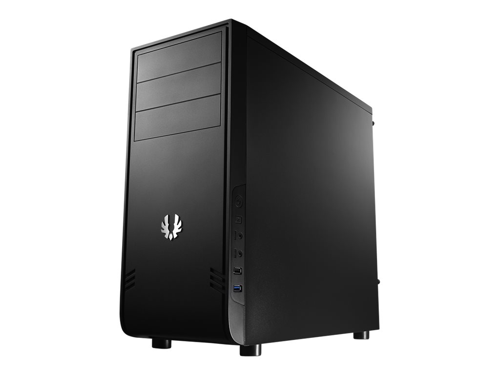 BitFenix Comrade - Tower - ATX - ohne Netzteil (ATX / PS/2) - Schwarz - USB/Audio