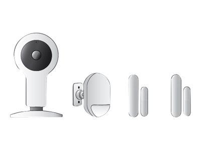 Ednet.smart home Starter Kit Security - Hausautomatisierungssatz - kabellos - 433 MHz