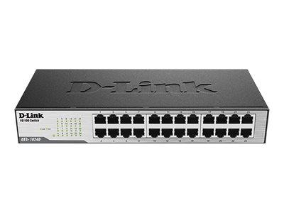 D-Link DES 1024D - Switch - 24 x 10/100 - Desktop