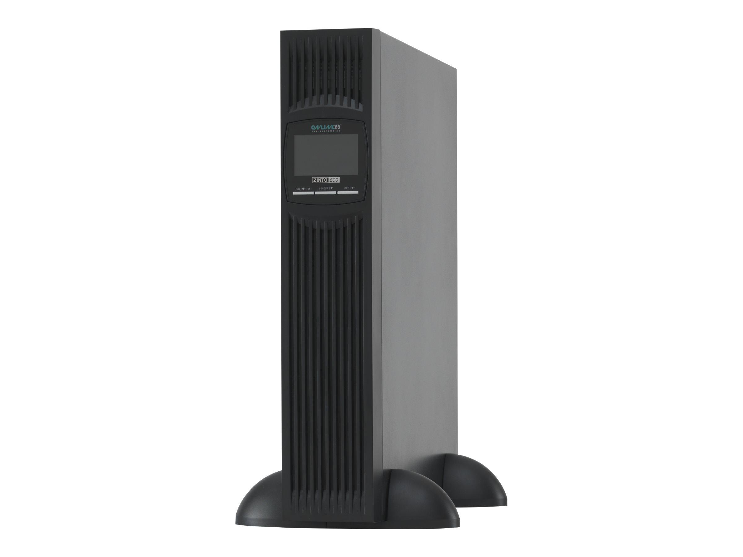 Online USV ZINTO 800 - USV (in Rack montierbar/extern) - Wechselstrom 230 V - 720 Watt - 800 VA - RS-232, USB